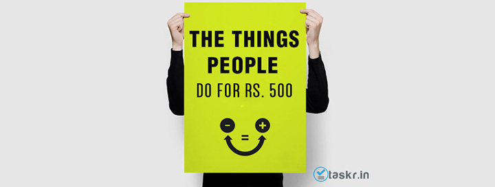 Changing the Work Economy Rs. 500 at a time