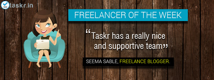 Featured Taskr of the Week: Seema Sable